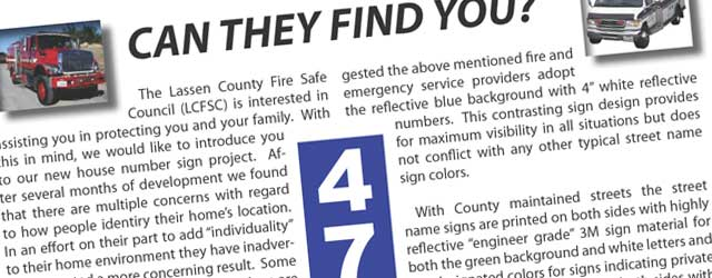 The Lassen County Fire Safe Council (LCFSC) is interested in assisting you in protecting you and your family. With this in mind, we would like to introduce you to our...